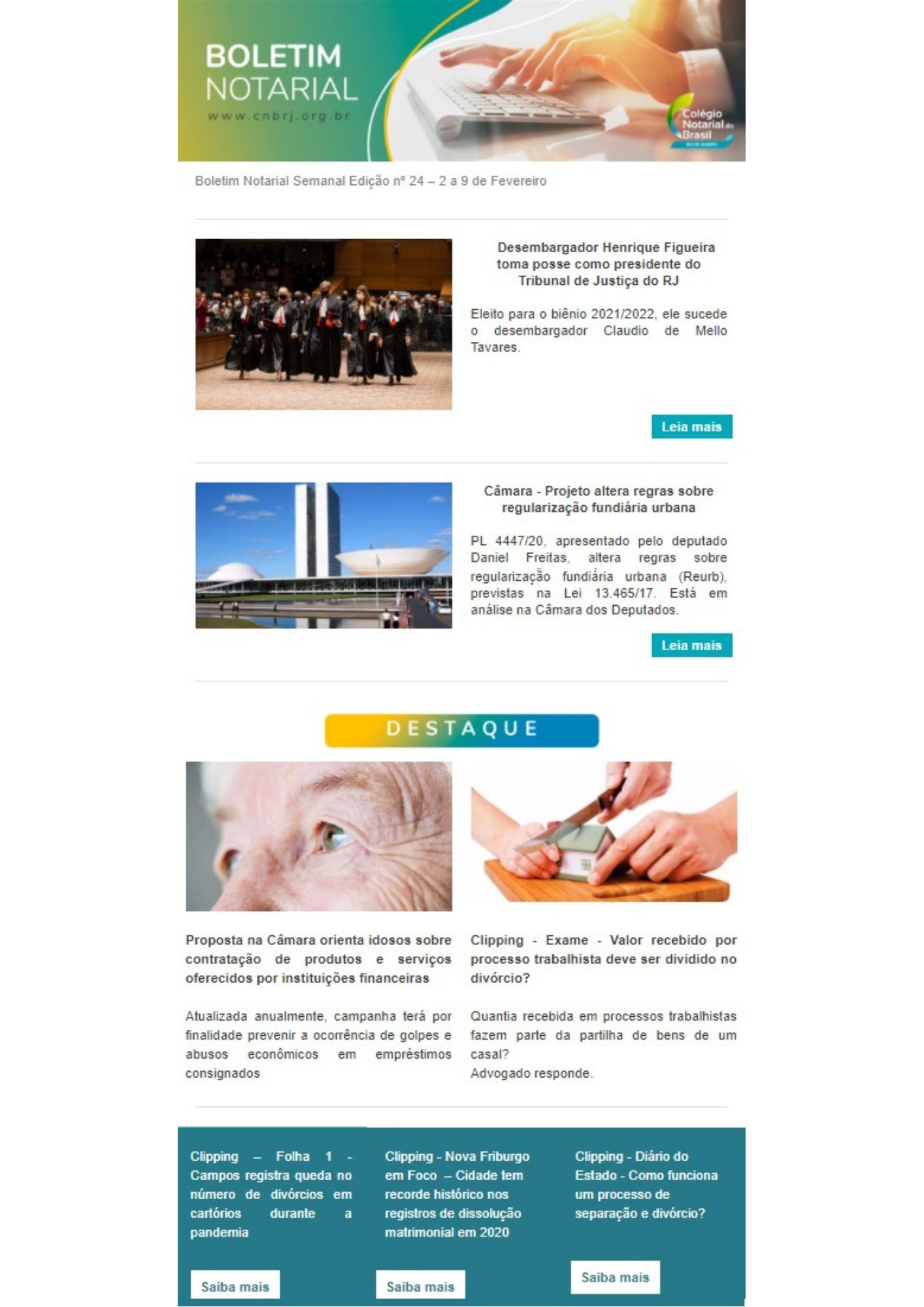 Boletim Notarial Semanal Edição Nº24