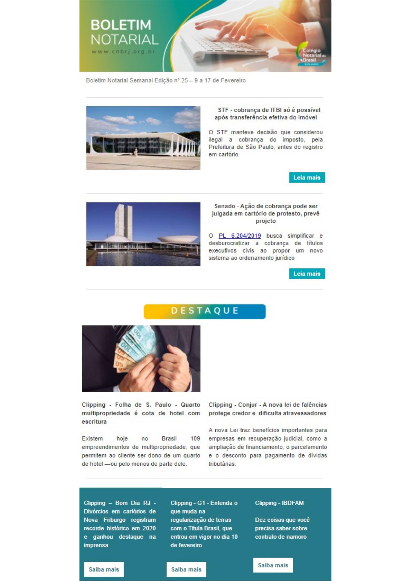 Boletim Notarial Semanal Edição Nº25