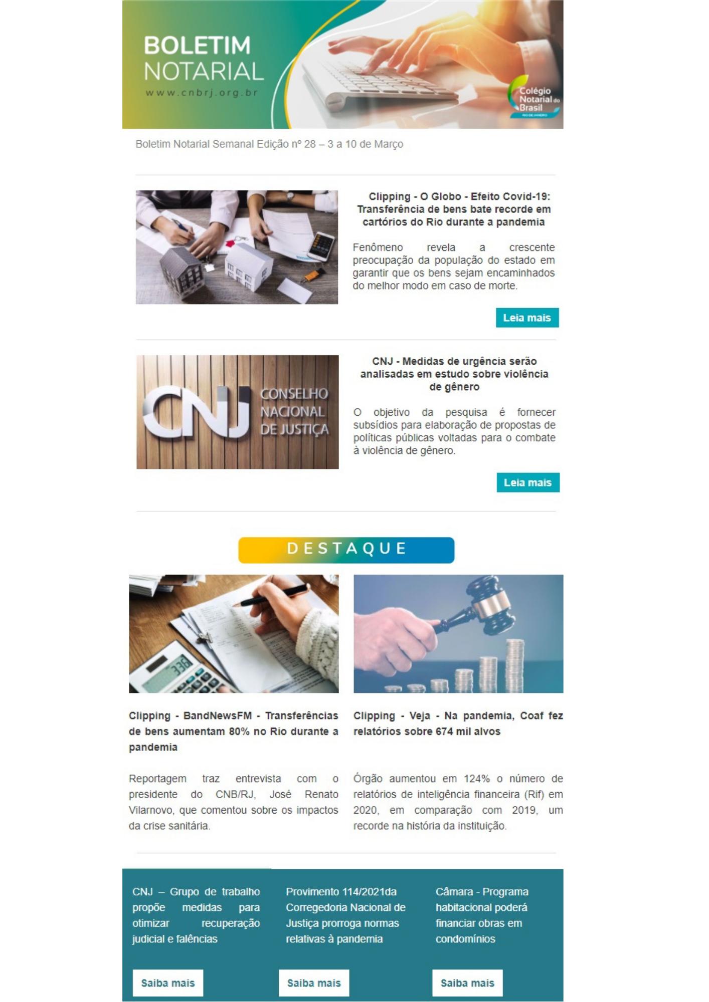 Boletim Notarial Semanal Edição Nº28